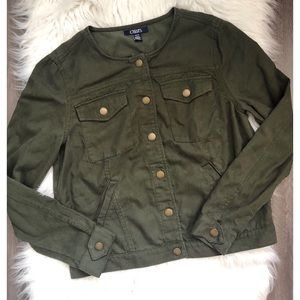 Chaps army green jacket ♥️
